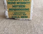 Call Your Mom Mini Brick Stone decor - green and yellow