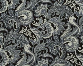 C2028C - 1 meter  Cotton Fabric - Pteris flower - grey (145cm width)