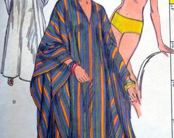 Uncut Vintage 1970s Swimsuit & Cover-Up Pattern Bust 32.5 Vogue 9471