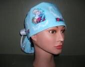 Frozen Ponytail scrub cap