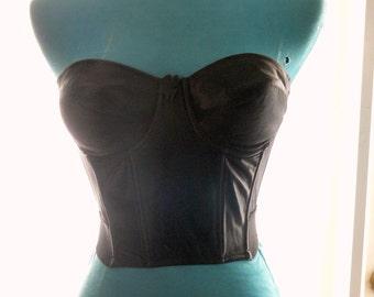 black boned strapless corset size 36b