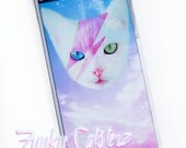 David Meowie Kitty Stardust Plastic iPhone Case - Kawaii Pastel Cosmos Space Cat iPhone 5 iPhone 6
