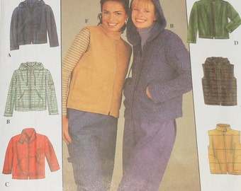 Simplicity 1999 Uncut 6 Made Easy Misses Jacket Or Vest Close Fitting Sizes 14 16 18 20 Pattern Number 8936