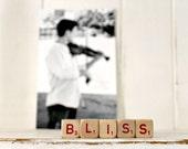 Vintage Letter Cubes BLISS