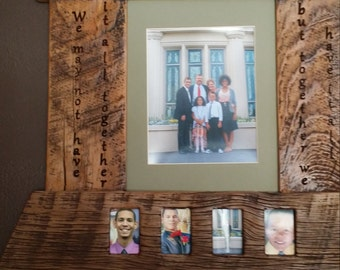 Personalized, custom made picture frames.  Price is for an 8 by 10 picture frame