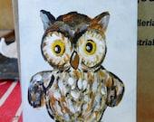 Original ACEO of a Darling Goebel Owl