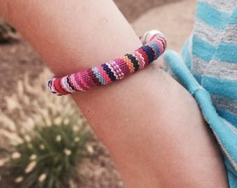 Cotton Cord Friendship Bracelet, Stack Layer Bracelet