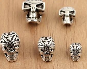 925 Sterling Silver skull beads, sterling silver skull, Thai Silver beads, Thai Silver skull, hill tribe silver skull beads