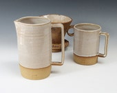 Handmade Ceramic Jug, Stoneware Pitcher, Pottery Pitcher, Big Coffee Mug