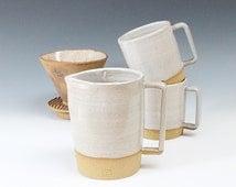 handmade Stoneware Pitcher, Handmade Ceramic Jug, Pottery Pitcher, Big Coffee Mug