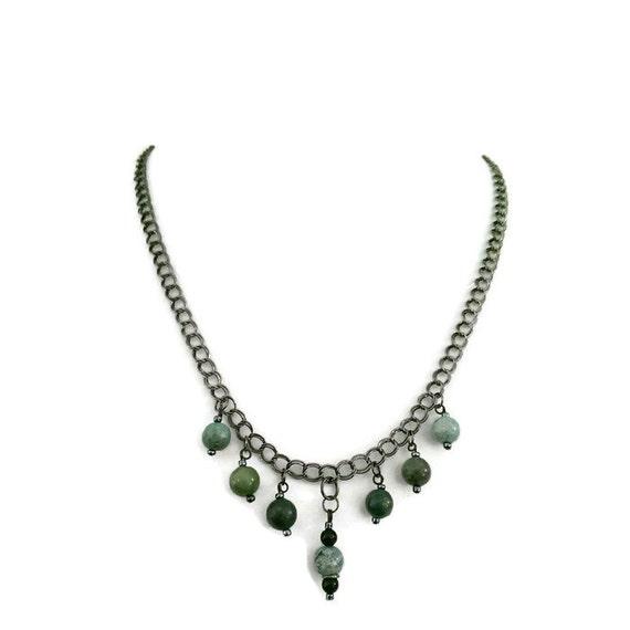 Natural stone necklace handmade necklace handmade pendant women