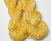 Linen Yarn - Hand Dyed 100 Percent Linen Fingering Weight Yarn in Prickly Poppy Colorway