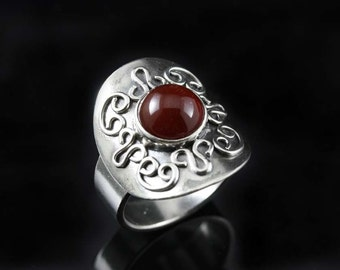 Carnelian Shield Ring