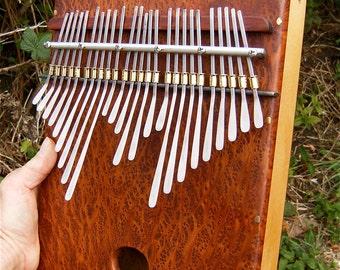 Redwood Lace Burl Box Kalimba