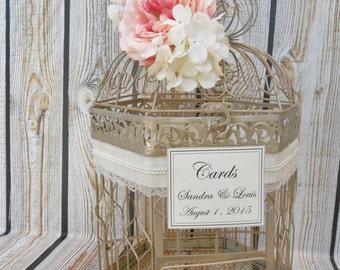 xl champagne gold wedding birdcage card holder wedding card box extra large birdcage
