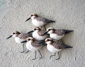 Sandpiper sculpture-shorebird art-sanderling art-shorebirds-nautical beach art