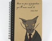 Cat Notebook Salvador Dalí Quote, Spiral Bound Small Notebook