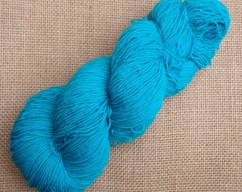 """Hand dyed British Bluefaced Leicester/nylon sock yarn in """"Hecate"""""""