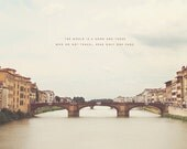 Florence Travel, Florence Print, Florence Art Print, Florence Art, Florence Photography, Florence Photo, Arno River, Ponte Vecchio, Travel