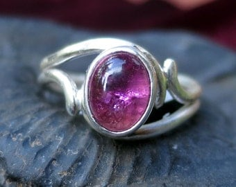 Gorgeous Pink Tourmaline Ring in Sterling Silver