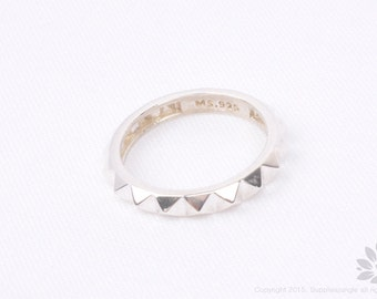 SR006// 925 Sterling Silver Spike Ring, 1 pc