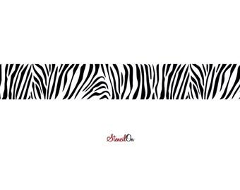 Zebra Wall Border Stencil