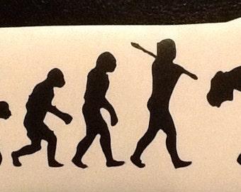Evolution of Rock, musician sticker, electric guitar decal