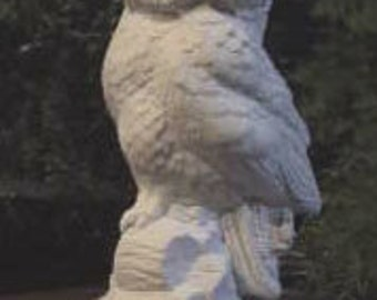 "Lovely 8"", Owl Statue, Realistic Owl, Wild Owl, Bird statue, Standing Owl, Wise Owl, Barn Owl, u-paint, Ready to paint, Ceramic Bisque"