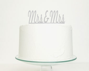 Mrs & Mrs Civil Partnership / Lesbian Wedding Cake Topper