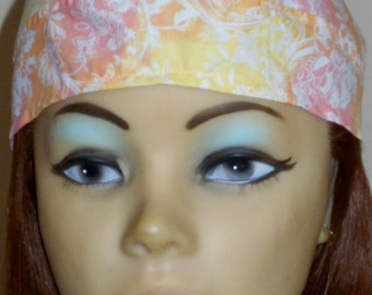 Orange, Yellow and Pink Batik skull cap