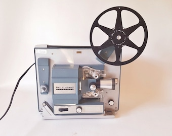 Midcentury Bell Howell AutoLoad Film Projector Collectable Photography Equipment Movie Props Industrial Design Loft Apartment Decor