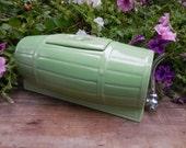 Vintage Mint Green Ceramic Barrel Drink Dispenser