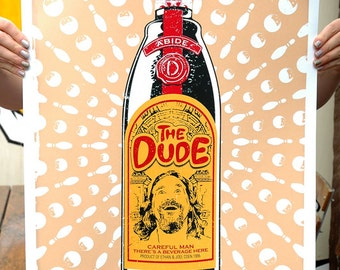 The Big Lebowski 'The Dude' Hand Pulled Limited Edition Screen Print