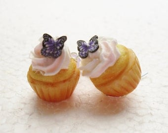 Cupcake Earrings. Polymer Clay.