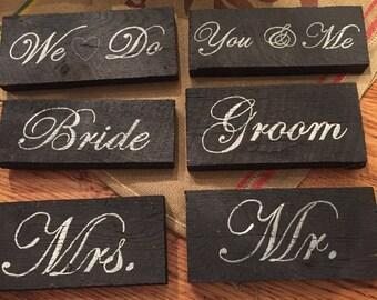 Wedding Barnwood Signs
