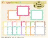 ON SALE doodle digital clip art frames, clipart frames ,digital cute frames .A-203