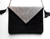 Fashionista Casual Style Envelope Bag / Fabric Handbag / Paperback Clutch