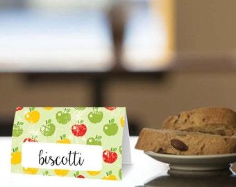 Instant Download - 4 Printable Food Labels - Modern Apple