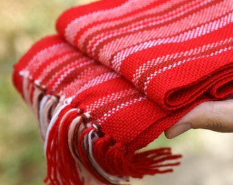 handwoven wrap red merino wool scarf for baby Made to order! Baby Scarf