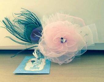 Pink Rose Fascinator