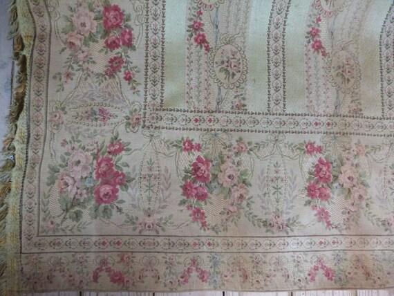 antique french window curtain drape drapery