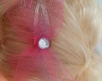 Simple Sparkle Hair Bow