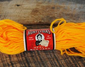 Vintage Aunt Lydia's Heavy Rug Yarn 70 Yards Sunset 550