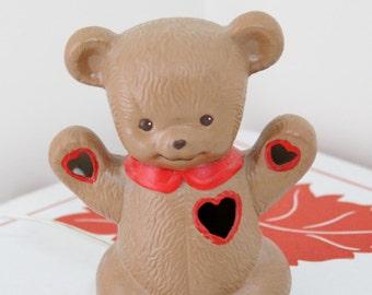Vintage 80's Ceramic Teddy Bear Nightlight