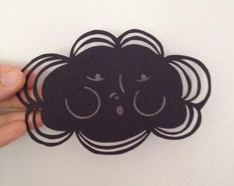 Grandfather Cloud face- original paper cutting
