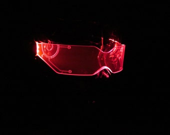 The Original Illuminated Cyber goth visor V2 red TRON