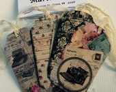 Gift Tags Paris Vintage Lace Ties Wedding Gift Tags Vintage Lace Ties  Gift Tags Birthday Parcel Gift Tags - Ready to Ship