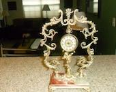 Antique Hollywood Glam Filigree Clock