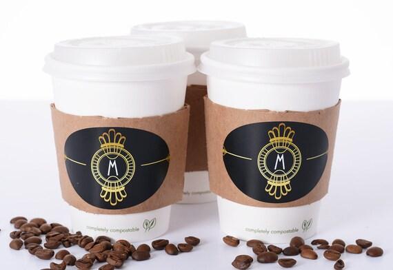 Gatsby Wedding Supplies 10 Wedding Coffee Cups Lids