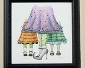 Witch feet, Watercolor art, Whimsical Art, Witch Shoe Art, Witch Art, Halloween Illustration, Gift for Her, Home Wall Art, Handmade Art